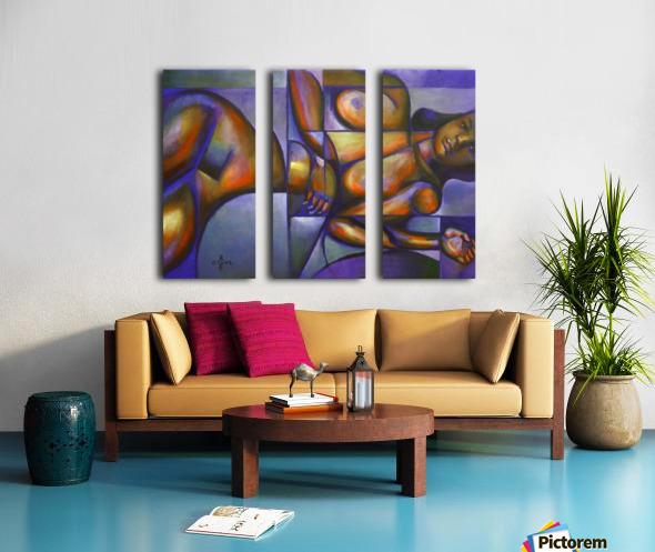 Roundism – 12-05-18 Split Canvas print