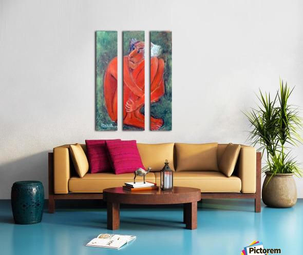 42.Fear2017year 30x30cm Original Painting Oil on Canvas1300$ Split Canvas print