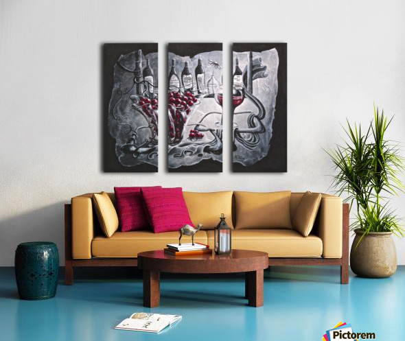 My favorite merlot Split Canvas print