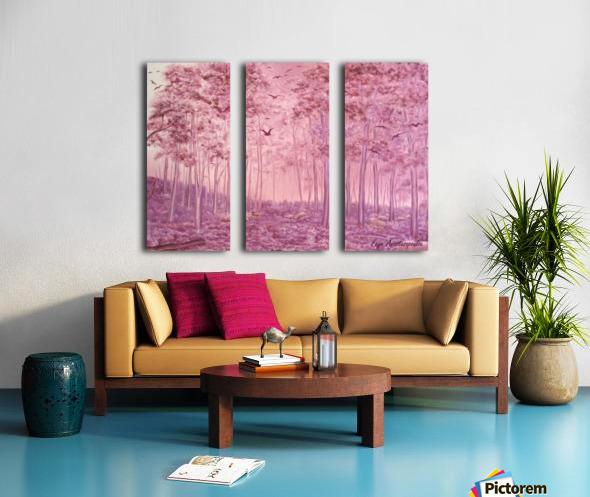Pink Woods Split Canvas print