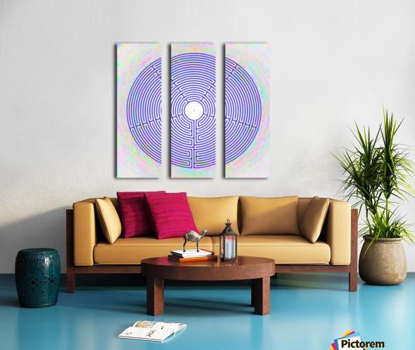 BLUE23 Split Canvas print