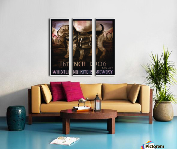 Whistling Kite Brewery: Trench Dog Split Canvas print