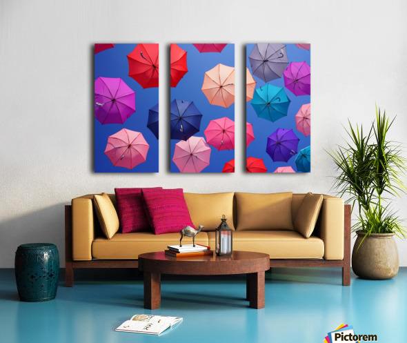 Colorful umbrella Split Canvas print