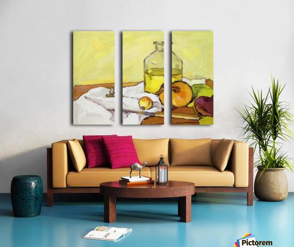 Still Life with Onion-2 Split Canvas print
