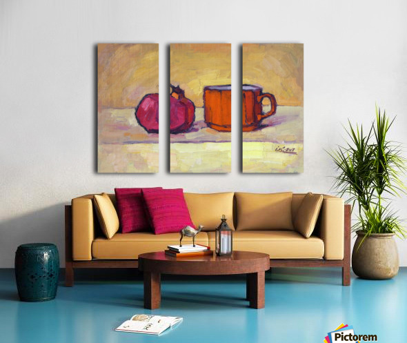Pomegranate and Red Cup Split Canvas print