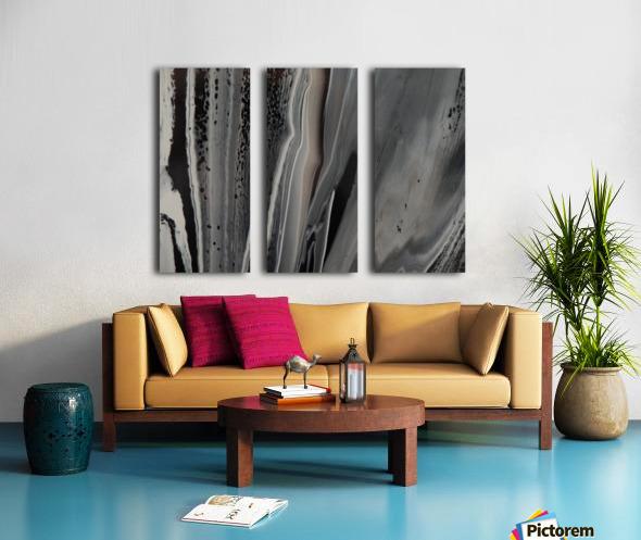 BLACK MARBLE Split Canvas print