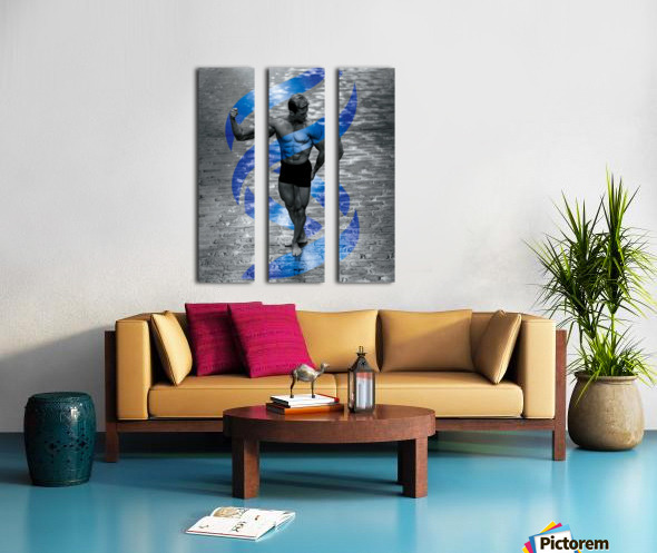 Cobble-Stone Physique with EAS DNA swirl  Split Canvas print