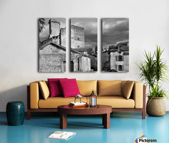 Bourdeilles Dordogne SW France Split Canvas print