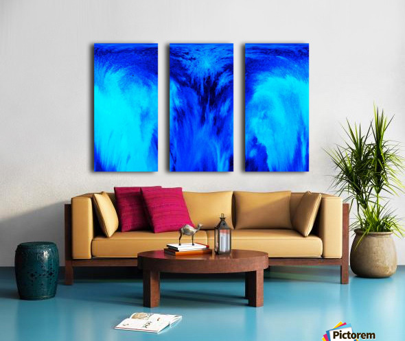 Abstract blue Split Canvas print