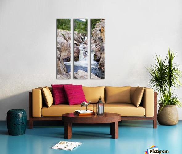 Colorado Waterfall  -  Poudre River  Split Canvas print