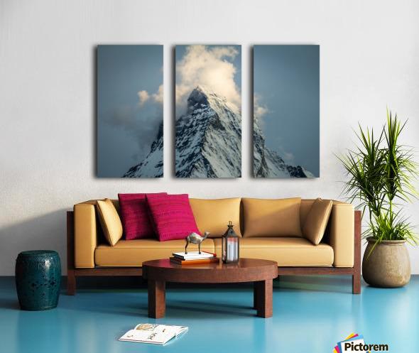 Matterhorn Glow Blue Split Canvas print