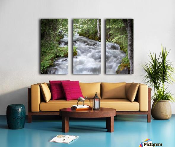 Beautiful Waterfall Photos - Alaska Split Canvas print