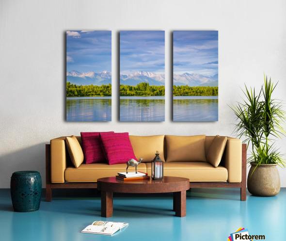 Summer in Alaska Split Canvas print