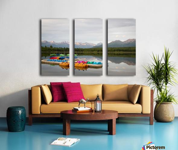 Alaska Lake and Sporting Split Canvas print