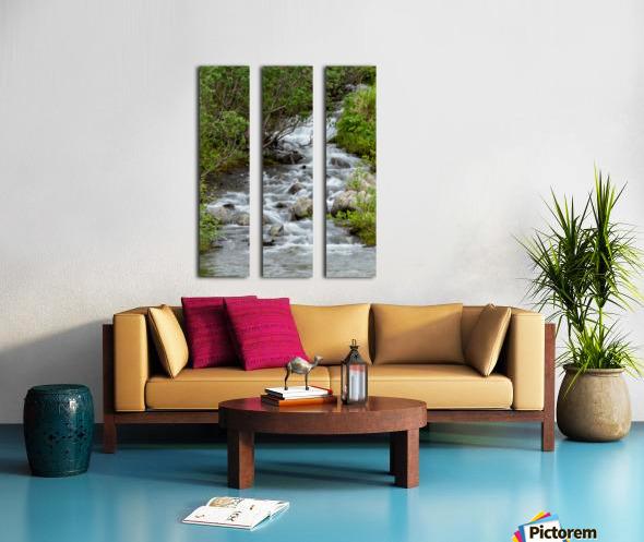 Beautiful Waterfall Picture in Alaska Split Canvas print
