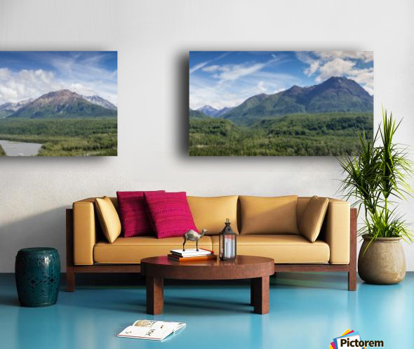 Photos Alaska Mountain Panorama Split Canvas print