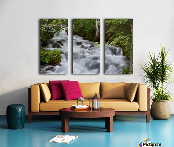 Beautiful Waterfall Photograph Split Canvas print