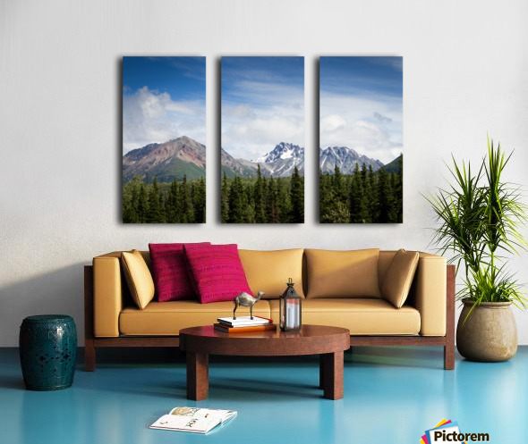 Photos Alaska Mountains Split Canvas print