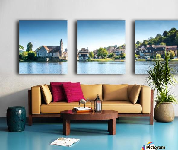 Beaulieu-sur-Dordogne Split Canvas print