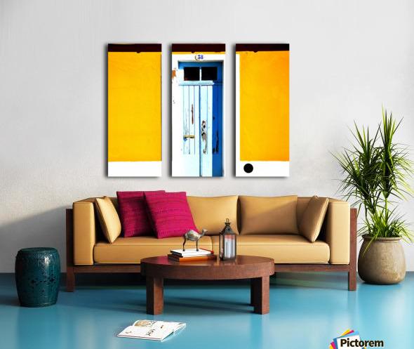 Yellow 04_OSG Split Canvas print