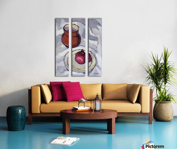 Still Life with Pomegranate Split Canvas print