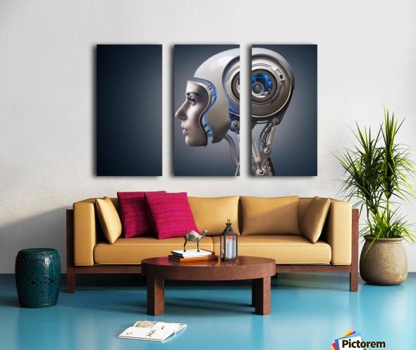 Next Generation Cyborg Split Canvas print