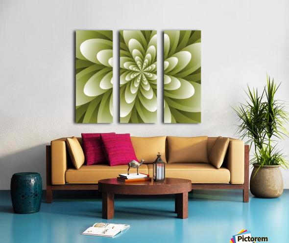 Greeny Feel Split Canvas print