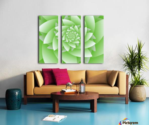 Greeny Floral Split Canvas print