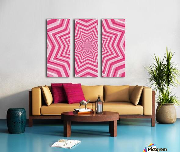 Pink Geometric Design Art Split Canvas print