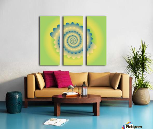 3D Flower Artwork Split Canvas print