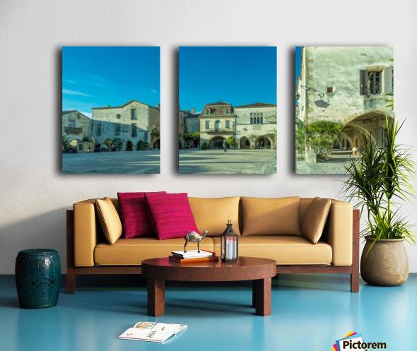 Monpazier Dordogne  Split Canvas print