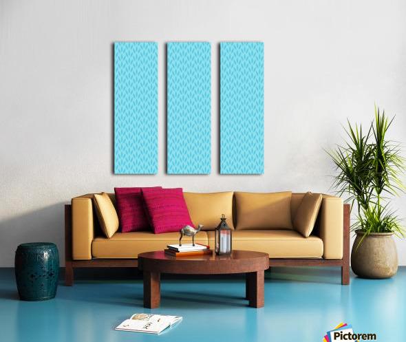 Blue Leaf pattern Art Split Canvas print