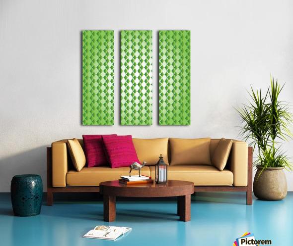 Islamic Art Green Color Artwork Split Canvas print