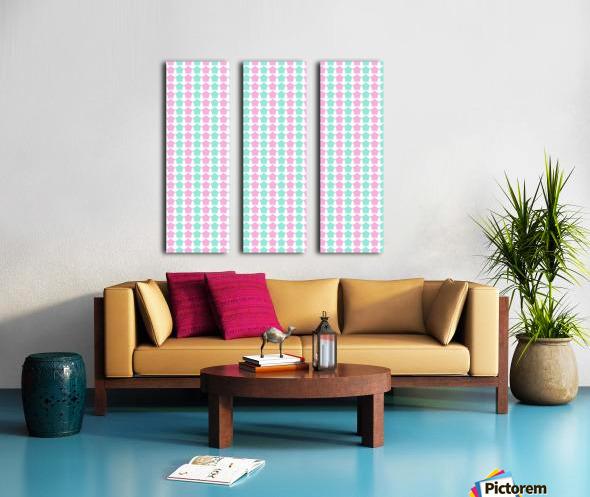 Pink _ Blue Star Seamless Pattern Artwork Split Canvas print