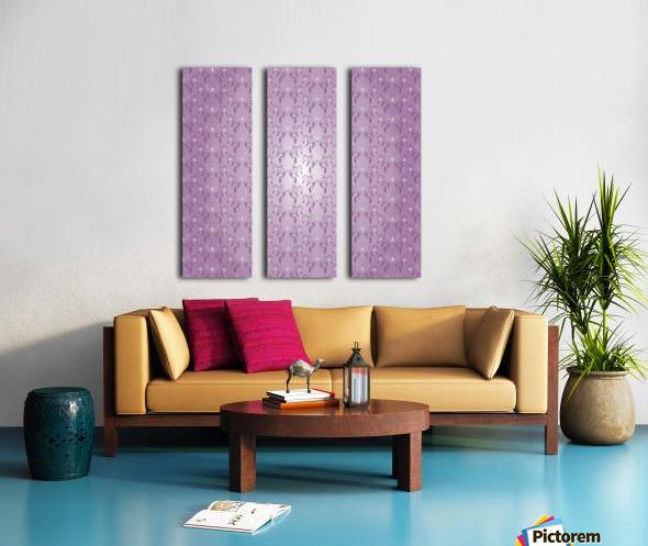 Ornamental Pink Artwork Split Canvas print