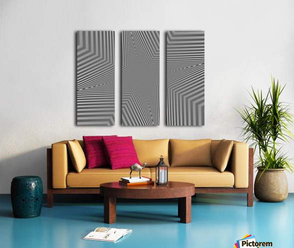 Crazy Loop Split Canvas print
