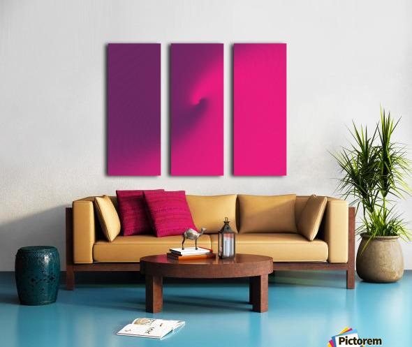 Abstract Purple & Blue Art Split Canvas print