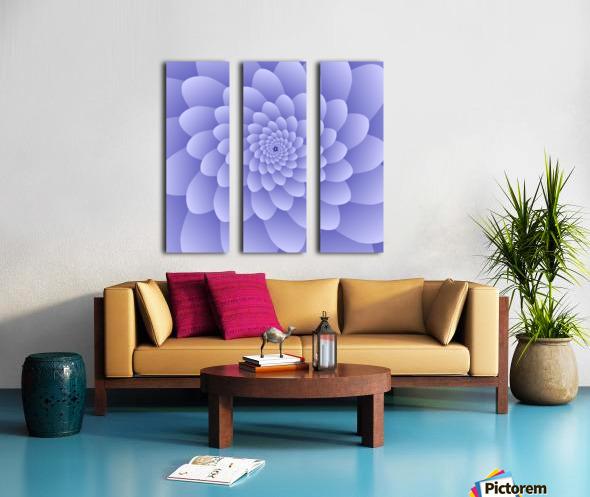 3D Modern Purple  Floral Art Split Canvas print