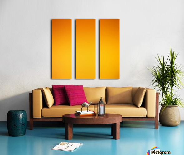 Orange Gradient Background Split Canvas print
