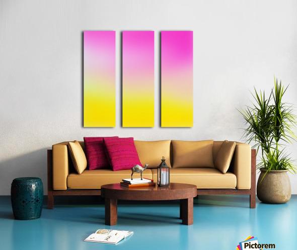 pink to yellow Gradient Background Split Canvas print