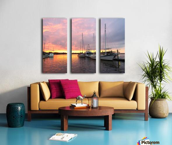 Sunset Sailboat 2 Split Canvas print