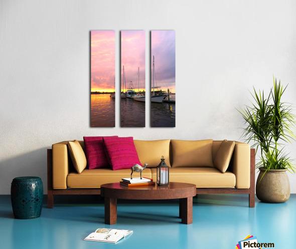 Sunset Sailboat Split Canvas print