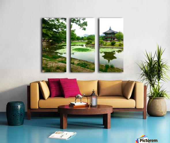 Korean Temple Split Canvas print