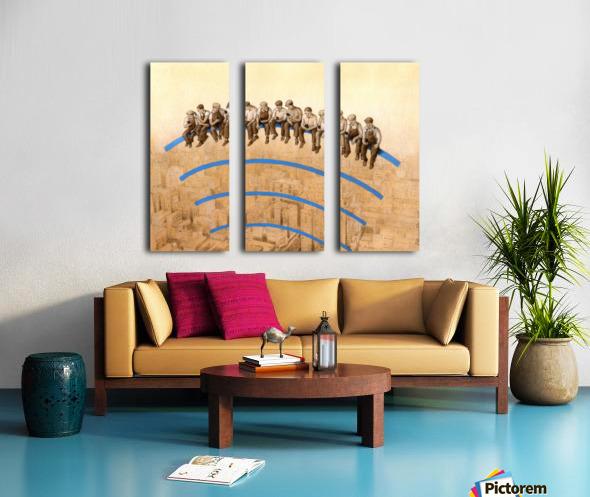 workers Split Canvas print