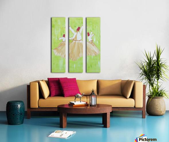 ahson qazi derwaishmolana rumi Split Canvas print