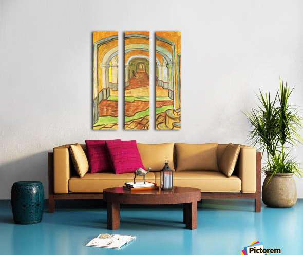 Corridor in Saint-Paul Hospital by Van Gogh Split Canvas print