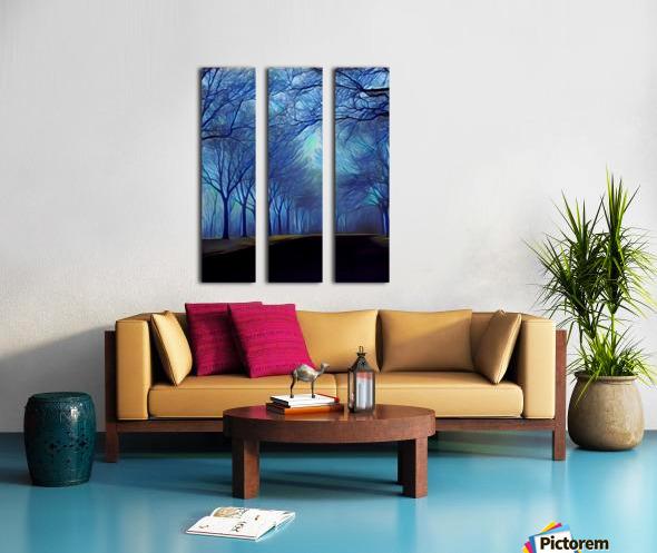 study in blue Split Canvas print