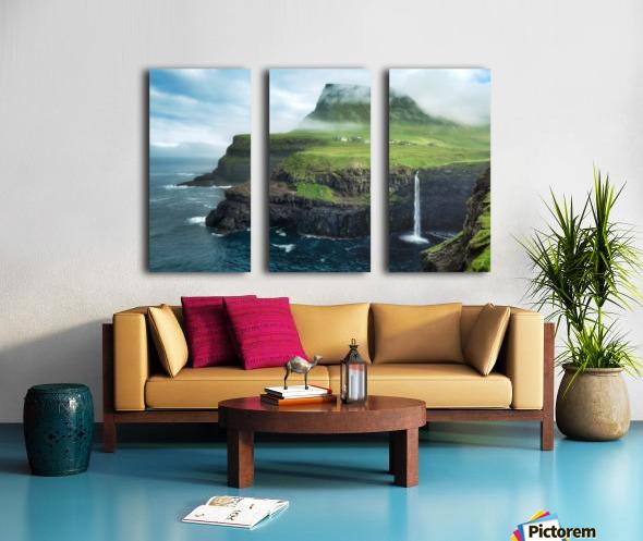 Múlafossur Waterfall Split Canvas print