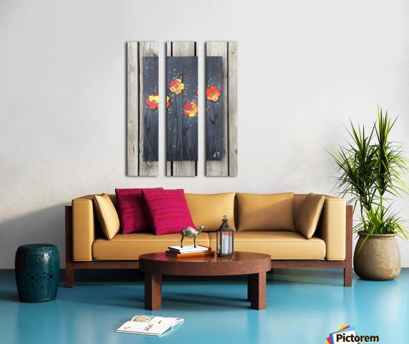 Pop up Daisies Split Canvas print