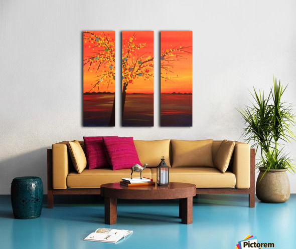 Summer Sunset Split Canvas print